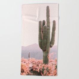 Vintage Cactus Beach Towel