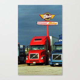 Route 66 - Dixie Truckers Home 2008 Canvas Print