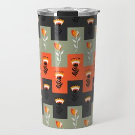 Retro floral decor Travel Mug