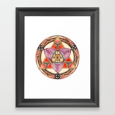 Pyramid Mandala Framed Art Print