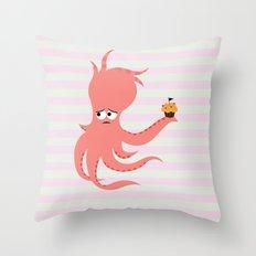 Squid of Awkward Condolence Throw Pillow