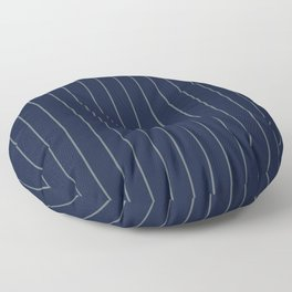 Navy Blue & Gray Pinstripe Floor Pillow