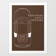 Vorsprung Durch Awesome Art Print