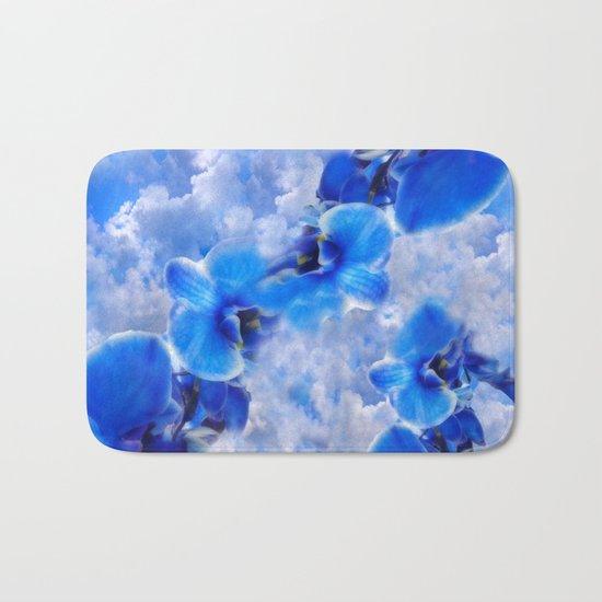 Orchids Blue Bath Mat