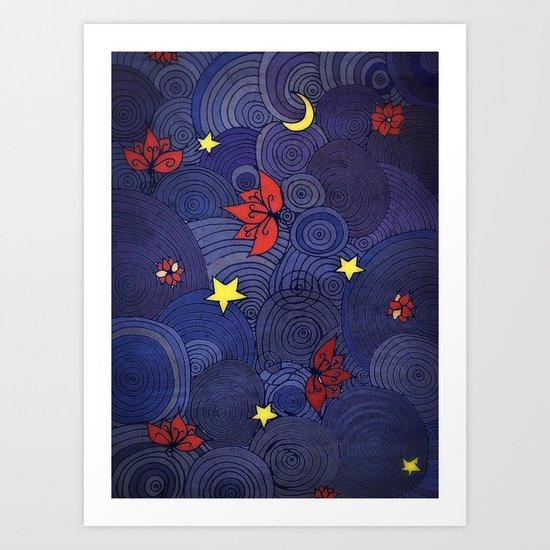 Lotus Sky Art Print