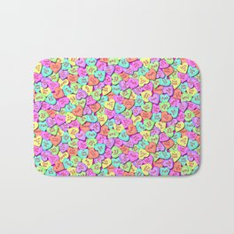 Fuck, I love conversation hearts. Bath Mat