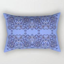 Mirrored Paisley Border Rectangular Pillow