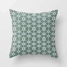 Multiple White African Daisies Throw Pillow
