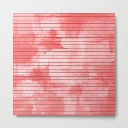 Seeing Red - Textured, geometric red Metal Print