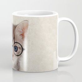 Kitten with Glasses Coffee Mug