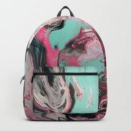 Dirty Paint Pour 1, Fluid Art Reproduction Backpack