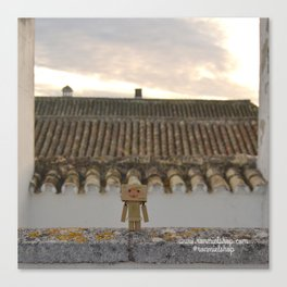 Danbo on rooftops  Canvas Print