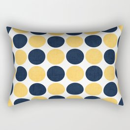 navy and yellow dots Rectangular Pillow