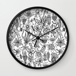 Floral Connection Wall Clock