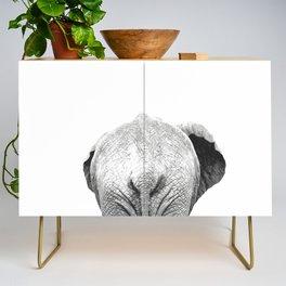 Black and white elephant animal jungle Credenza