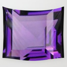 PURPLE FEBRUARY AMETHYST GEMS Wall Tapestry
