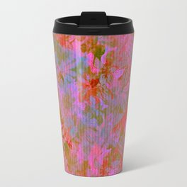 Day Time Floral Abstract Travel Mug