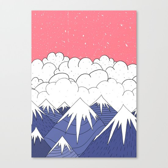 The mountains and the clouds Canvas Print