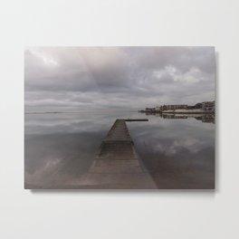 Pier in Winter Metal Print
