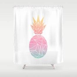 Beeniks Rays Pineapple Shower Curtain