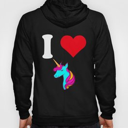 I Love Unicorns Mythical Creature Gift Idea T-Shirt Hoody