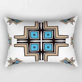 aztec cross mandala Rectangular Pillow