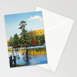 Ivy Island in Autumn Stationery Cards