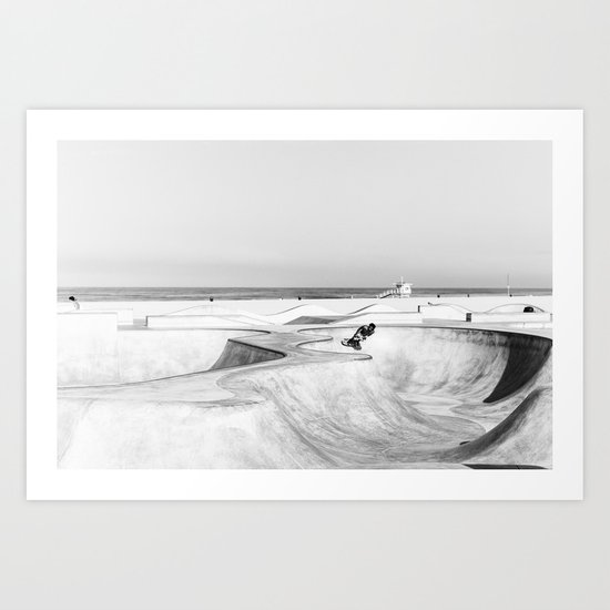 Venice Beach Skatepark Art Print