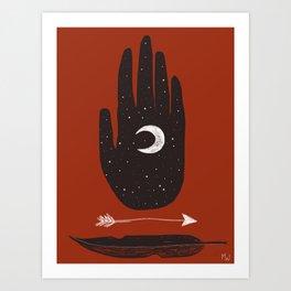 Moon & Arrow Art Print