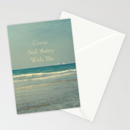 Come Sail Away With Me Stationery Cards