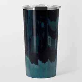 Digital Dissonance Blue Travel Mug