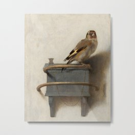 The Goldfinch Vintage Painting Metal Print