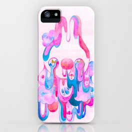 Pink Tears Art Print iPhone Case