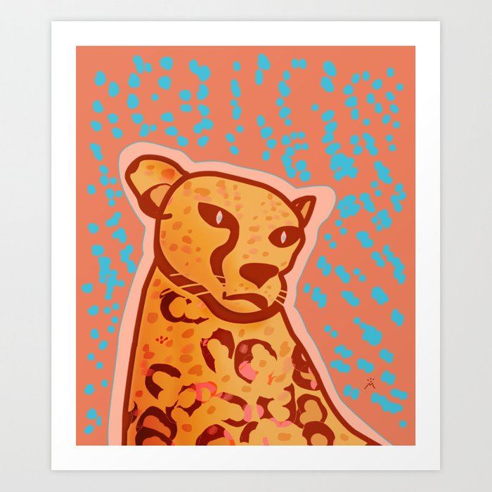 Melancholic Days, Cheetah Art Print