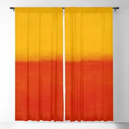 1956 Orange and Yellow by Mark Rothko HD Blackout Curtain