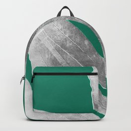 Christmas Fern, Holiday Green with Silver Winter Leaf Backpack