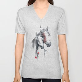 Indian Horses Unisex V-Neck