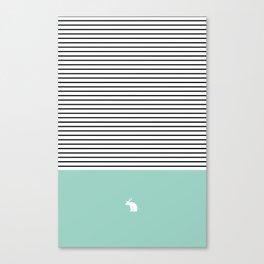 Line Edition blue Canvas Print