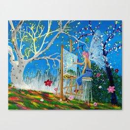 Fairy Artist Canvas Print
