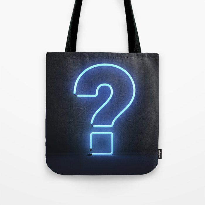 Question Mark (Neon) Tote Bag