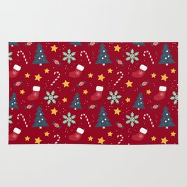 It's Christmas Time Colourful Pattern IV Rug
