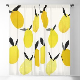 Lemons Blackout Curtain