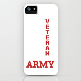 Veteran of the United States iPhone Case