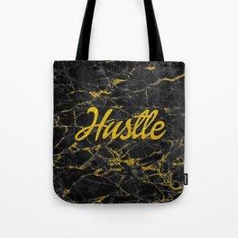 Gold Hustle Black Marble Tote Bag