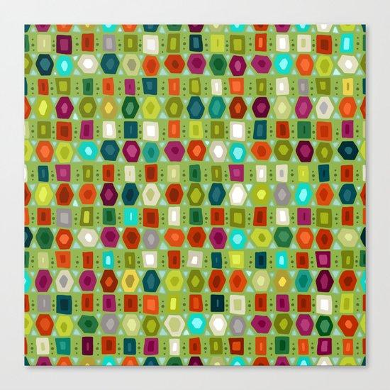 hex strip green Canvas Print