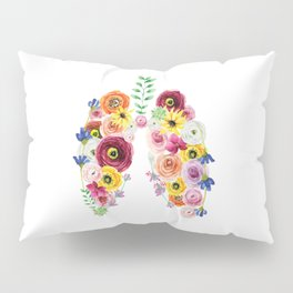 Floral Lungs Pillow Sham