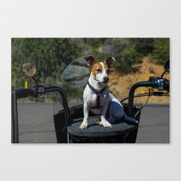 Motorcycle Pup Canvas Print