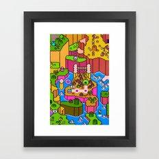 SMW World 2 Framed Art Print