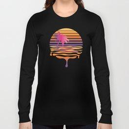 Retro striped sun and palm Long Sleeve T-shirt