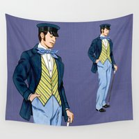 hipster Wall Tapestries featuring Hipster by Tom Tierney Studios